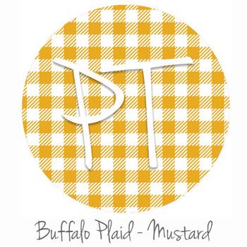"12""x12"" Patterned Heat Transfer Vinyl - Buffalo Plaid: Mustard"