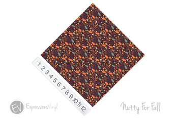 "12""x12"" Patterned Heat Transfer Vinyl - Nutty For Fall"