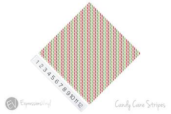 "12""x12"" Patterned Heat Transfer Vinyl - Candy Cane Stripes"