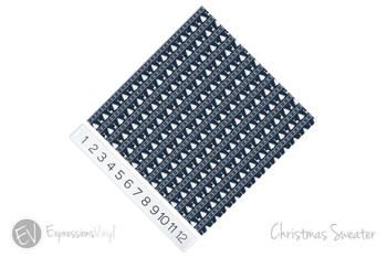 "12""x12"" Patterned Heat Transfer Vinyl - Blue Christmas Sweater"