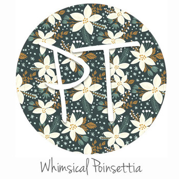 "12""x12"" Permanent Patterned Vinyl - Whimsical Poinsettia"