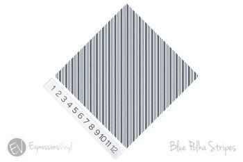"12""x12"" Permanent Patterned Vinyl - Blue Polka Stripes"