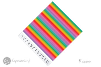 "12""x12"" Permanent Patterned Vinyl - Rainbow"