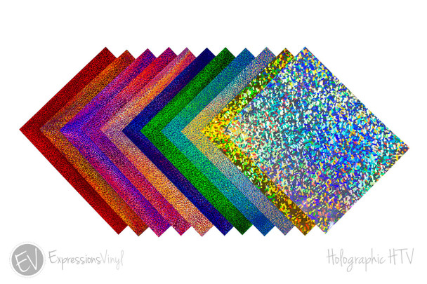"""Holographic 12""""x20"""" Heat Transfer Sheets"""
