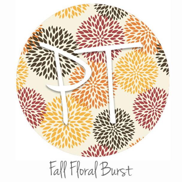 "12""x12"" Patterned Heat Transfer Vinyl - Fall Floral Burst"