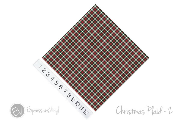 "12""x12"" Patterned Heat Transfer Vinyl - Christmas Plaid #2"