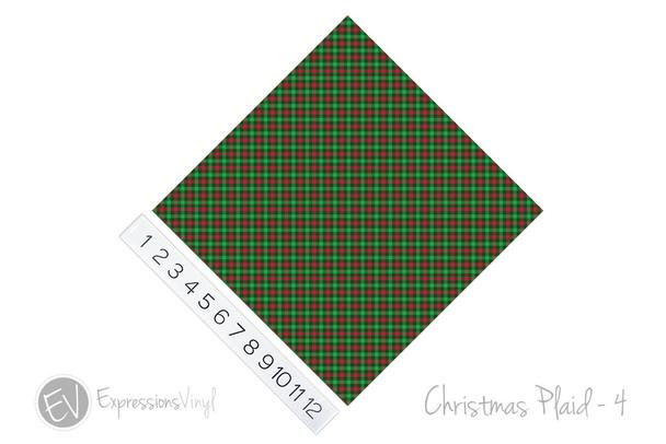 "12""x12"" Patterned Heat Transfer Vinyl - Christmas Plaid #4"