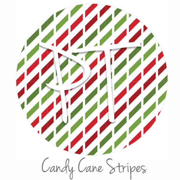 "12""x12"" Patterned Heat Transfer Vinyl - Candy Cane Stripes"