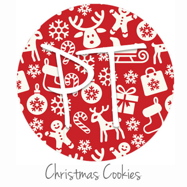 "12""x12"" Patterned Heat Transfer Vinyl - Christmas Cookies"