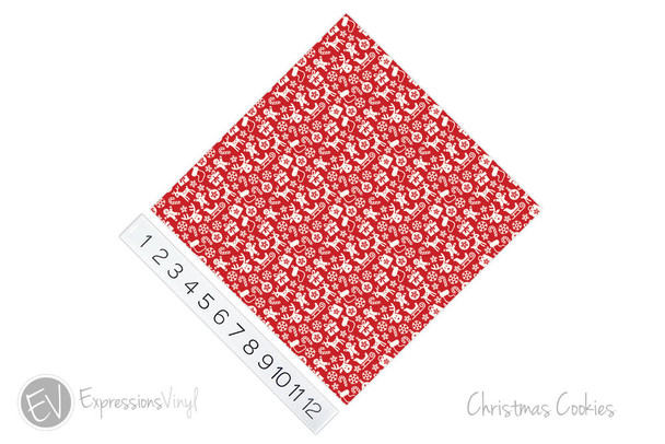 "12""x12"" Permanent Patterned Vinyl - Christmas Cookies"