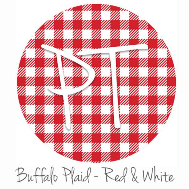 "12""x12"" Patterned Heat Transfer Vinyl - Buffalo Plaid -Red/White"
