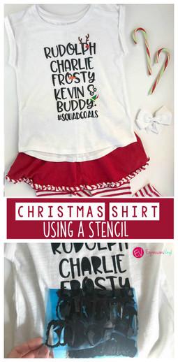 Christmas shirt idea with vinyl