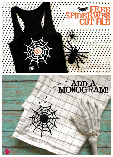 Spiderweb Monogram Cut File