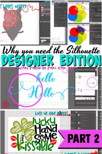 Silhouette Upgrades Designer Edition Part 2