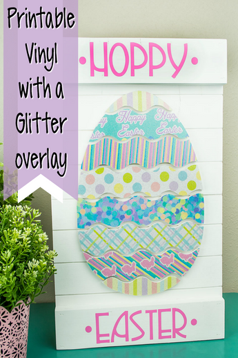 Printable Vinyl Easter Decor with Glitter!