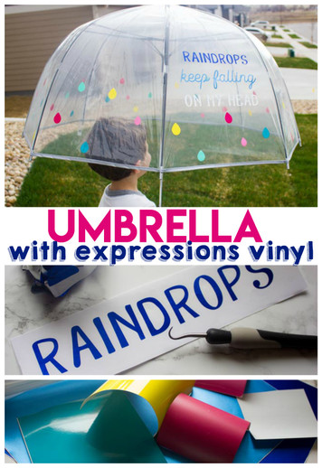 Fun umbrella with Expressions Vinyl