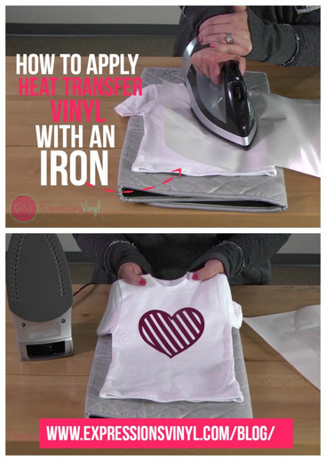 How To Apply Heat Transfer Vinyl With An Iron