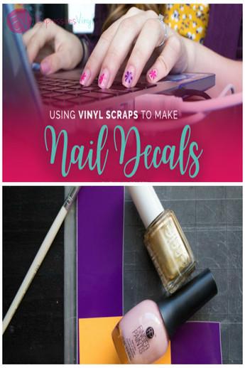 Using Vinyl Scraps to Make Nail Decals