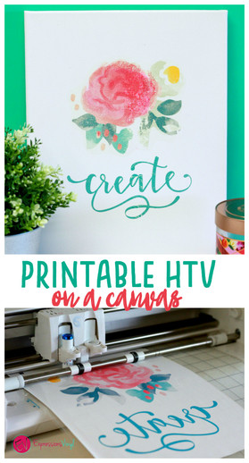 Printable HTV on canvas