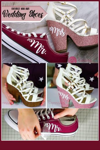 Glitter HTV on Shoes.