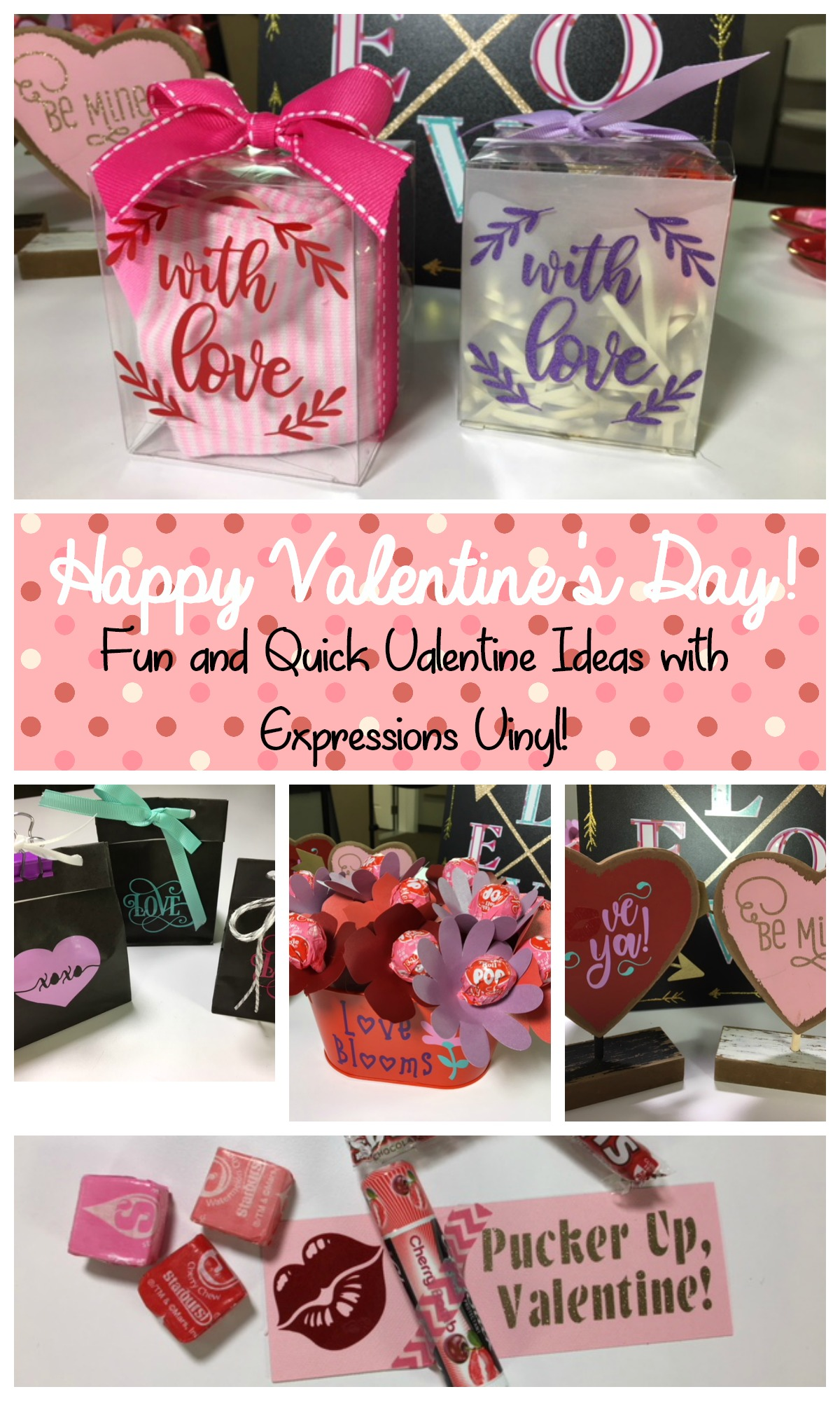 Be Mine, Valentine! Adhesive Vinyl Valentine Ideas - Expressions Vinyl
