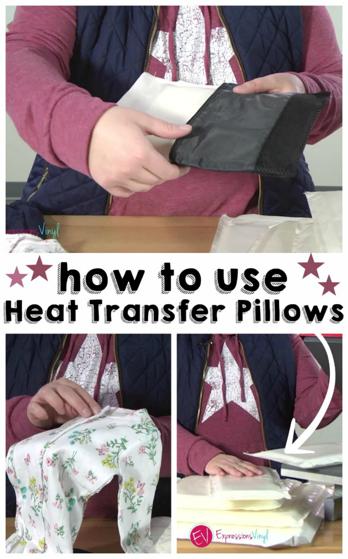 How To Use Heat Transfer Pillow Correctly Expressions Vinyl