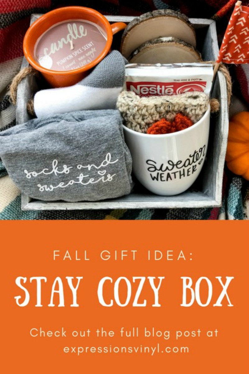 Stay Cozy Box With Vinyl Gifts Expressions Vinyl