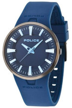 Police Dakar Unisex Analog Quartz Watch Blue Rubber Strap - PL-14197JSBU/03