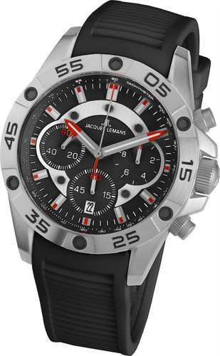 Jacques Lemans Liverpool 1-1773A Gents Silicone Chronograph Quartz Analog Watch