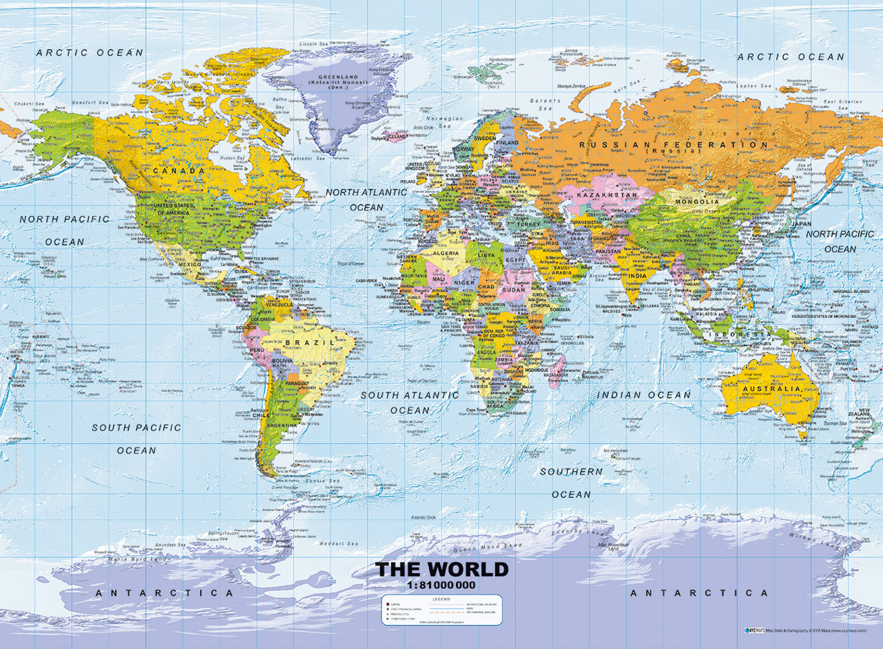 Ravensburger political world map puzzle 500 pce uncle petes toys ravensburger political world map puzzle 500 pce gumiabroncs Images