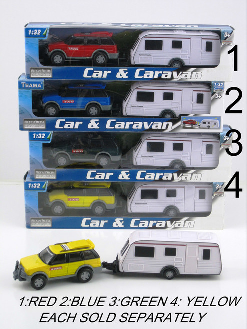 4WD & CARAVAN SET - GREEN