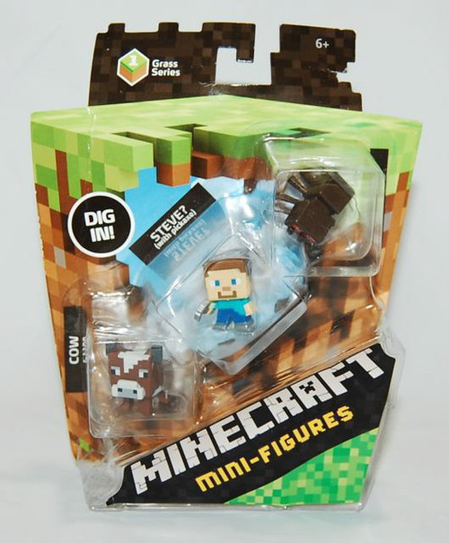 MINECRAFT MINI 3 PACK COW STEVE