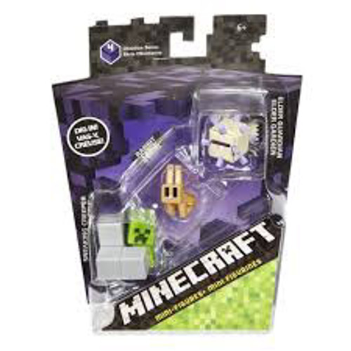 MINECRAFT MINIFIGURES - SNEAKY CREEPER RABBIT & ELDER GUARDI