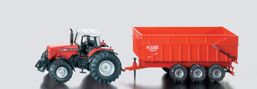 SIKU  MASSEY FERGSON TRACTOR WITH TRAILER  1:87 SCALE