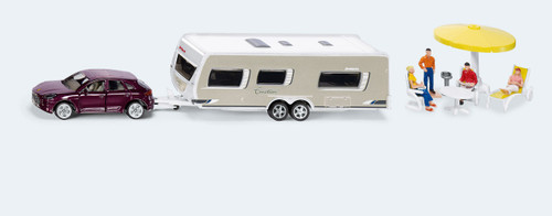 SIKU  CAR WITH CARAVAN  1:55 SCALE