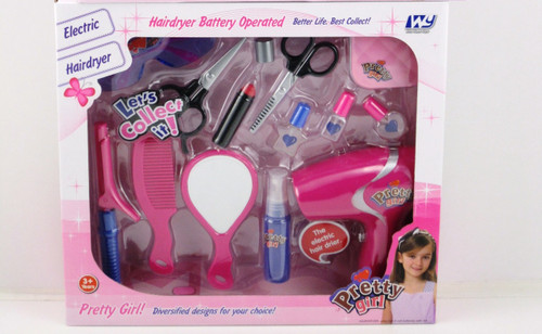 HAIR DRYER & BEAUTY PLAY SET W/MIRROR