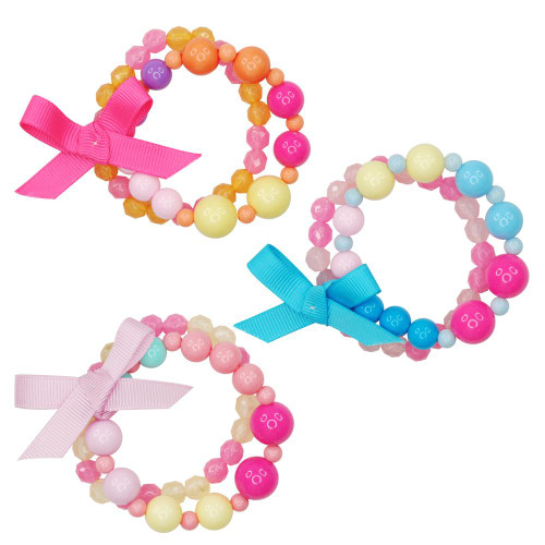 CANDY JELLY HEART BEAD BRACELET