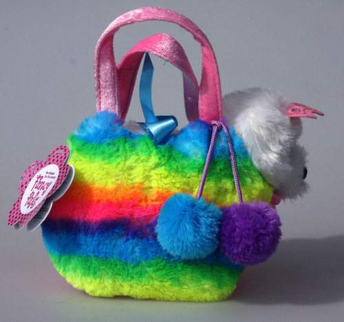 FP PET CARRIER - PRINCESS DOG IN FLUFFY RAINBOW BAG