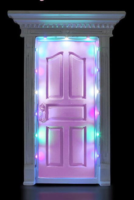 FAIRY DOOR PINK W/LIGHTS