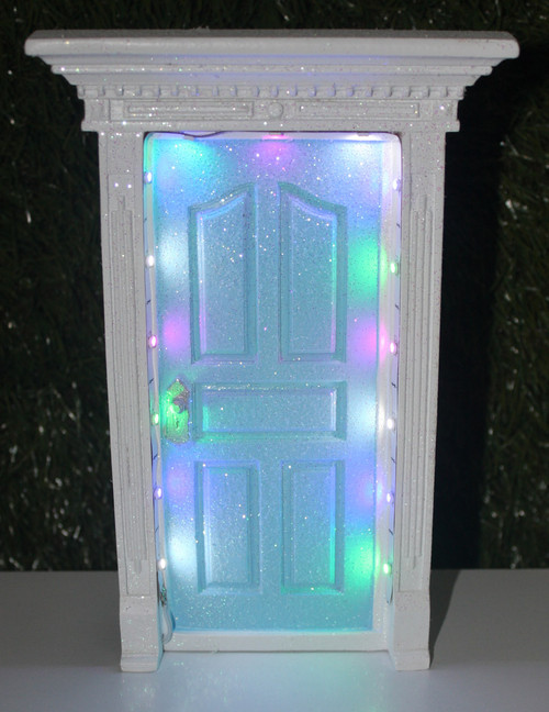 FAIRY DOOR LIGHT BLUE LED W/GL