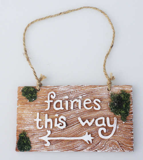 FAIRIES THIS WAY SIGN