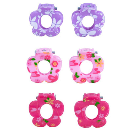 BUTTERFLY PRINT FLOWER CLAW CLIPS