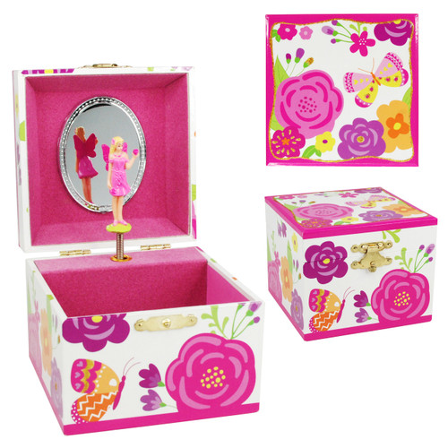 SECRET GARDEN SMALL MUSIC BOX - HPINK