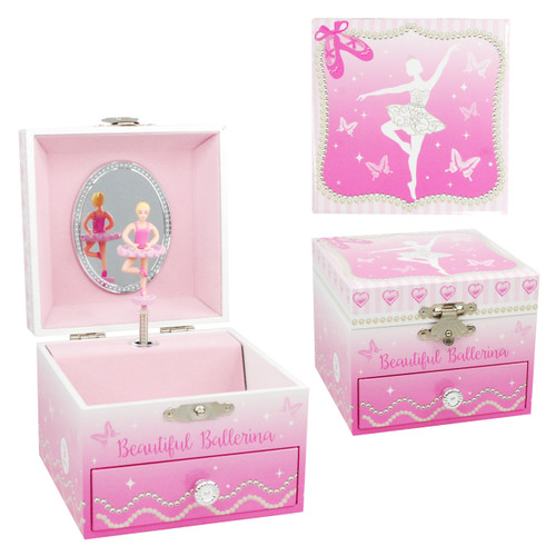 BEAUTIFUL BALLERINA SMALL MUSICBOX
