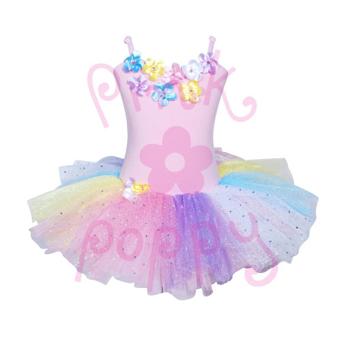 DAISY TUTU DRESS SIZE 5/6 PALE PINK