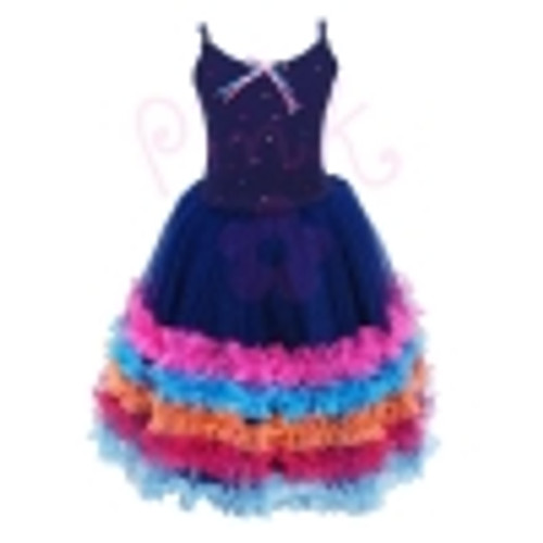 FIESTA DRESS SIZE 5/6 BLUE