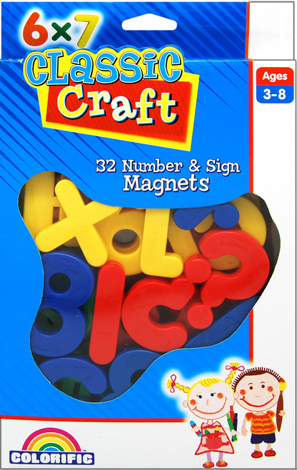 CLASSIC CRAFT CHUNKY MAGNETS - NUMBERS & SYMBOLS
