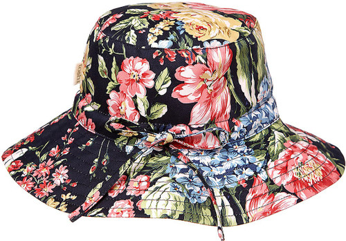 TOSHI BEACH HAT TROPICANA LIQUORICE MEDIUM