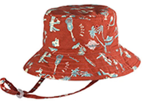 BOYS BUCKET - MALAKAI RED - SMALL