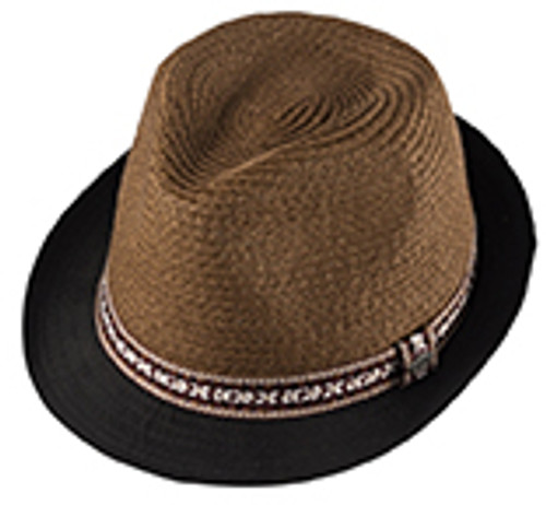 621cc20a0a5 Millymook and Dozer. BOYS FEDORA HAT - DARWIN BROWN